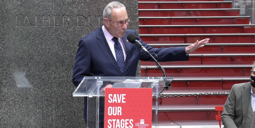 VIDEO: Sen. Chuck Schumer, Laura Benanti & More Gather in Support of Save Our Stages Act: Photo