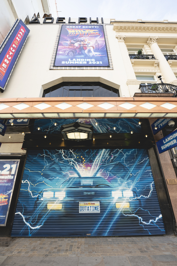 Photo Flash:  BACK TO THE FUTURE: THE MUSICAL Marquee Goes Up at the Adelphi Theatre