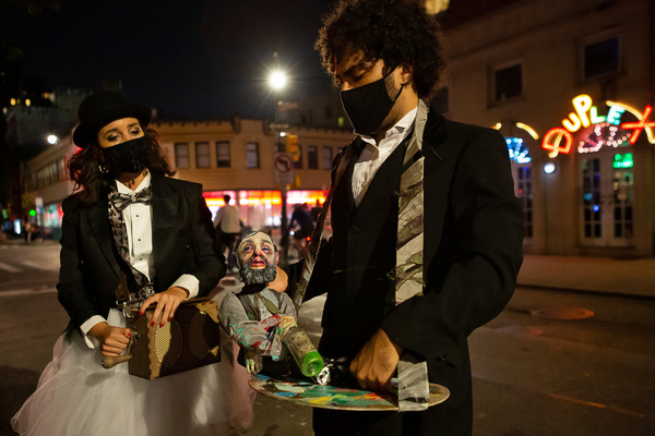 Ashley Burton & Jordon Waters (with puppet by James Ortiz Photo