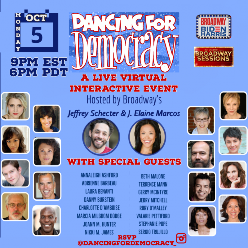 BWW Interview: Jeffrey Schecter Creator of MONDAYS FOR BIDEN'S DANCING FOR DEMOCRACY Virtual Fundraising Event Monday October 5th