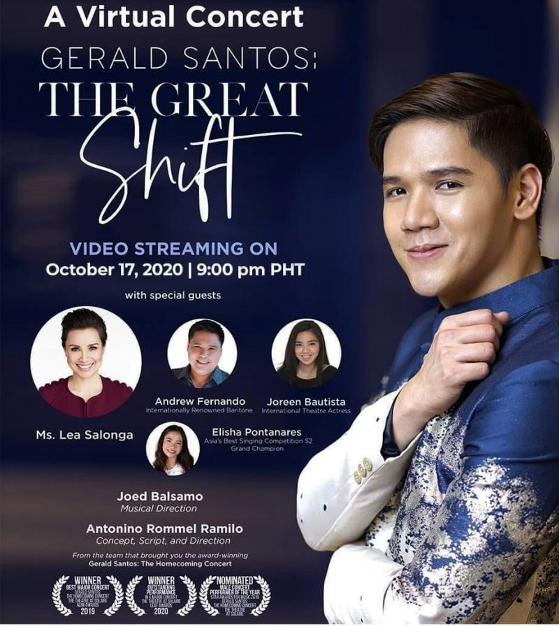 Enter To Win Tickets to GERALD SANTOS: THE GREAT SHIFT Virtual Concert!