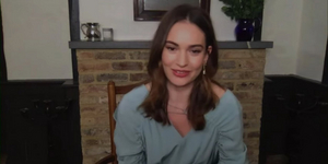 Lily James Talks MAMMA MIA 3 Rumors Video