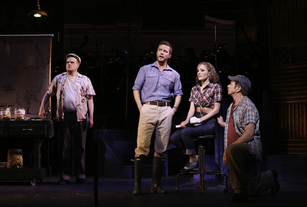 Stephen Wallem, Will Chase, Laura Osnes and Tom Wopat Photo