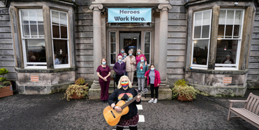 Perth Theatre Takes Gig On A Truck To Care Homes Across The Area Photo