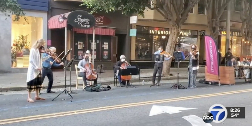 VIDEO: San Francisco Ballet Orchestra Musicians Perform Weekly Concerts on the Streets Photo