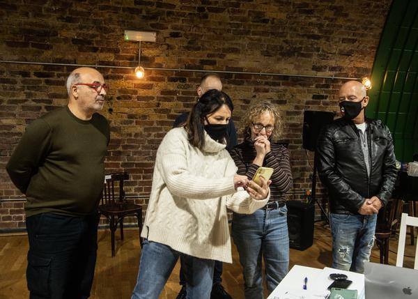 Peter Polycarpou, Sally Ann Triplett, Jean Grey and Michael Strassen Photo