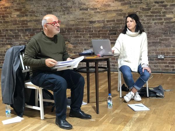 Photo Flash: Go Inside Rehearsals for FALLING STARS starring Peter Polycarpou and Sally Ann Triplett