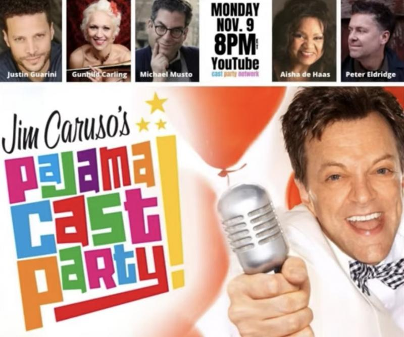 VIDEO: Watch Justin Guarini, Aisha de Haas & More on Jim Caruso's Pajama Cast Party