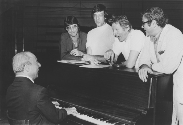 Richard Rodgers, Joe Layton, Peter Stone Martin Charnin, Danny Kaye Photo