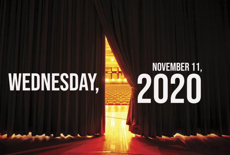 Virtual Theatre Today: Wednesday, November 11- with Corey Cott, Laura Osnes and More!