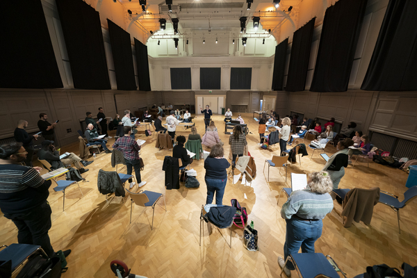 Photo Flash: Inside Rehearsal For A CHRISTMAS CAROL at the Dominion Theatre