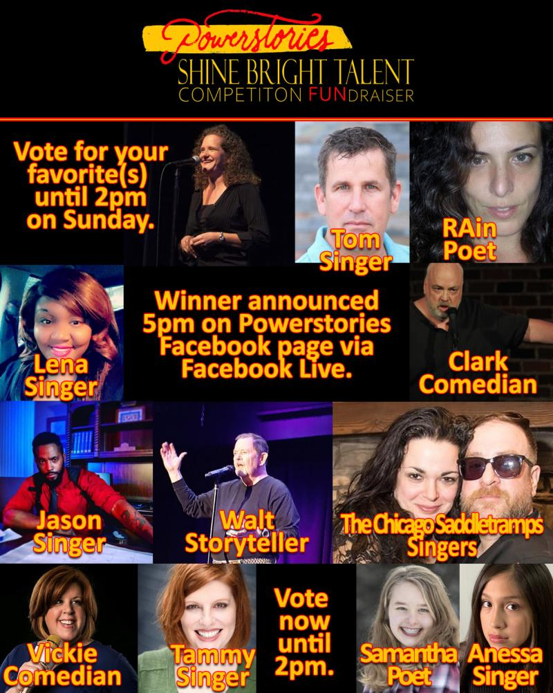 BWW Previews: Enjoy and Vote for your Favorites in Shine Bright Talent Competition FUNdraiser Online at Powerstories Theatre