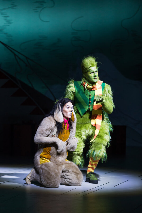 Booboo Stewart as Young Max, Matthew Morrison as Grinch Photo