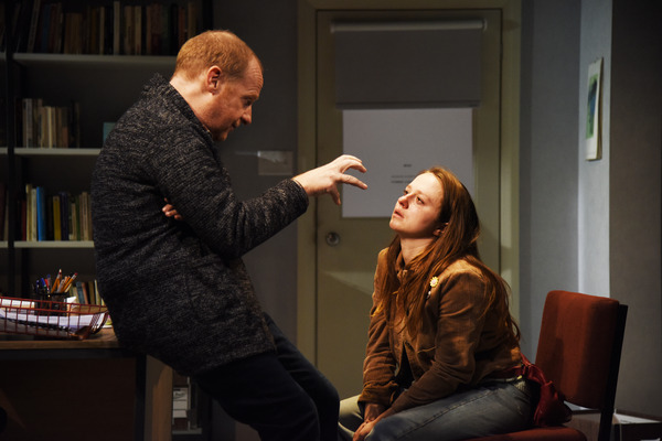 Photos: See Rosie Sheehy and Jonathan Slinger in OLEANNA at Theatre Royal Bath