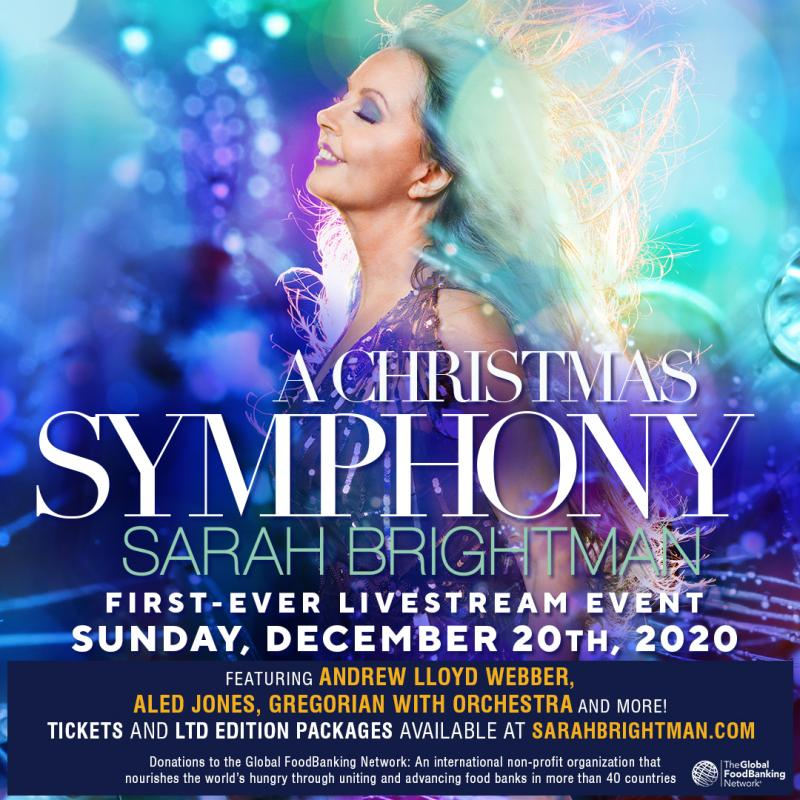 BWW Contest: Enter to Win a Deluxe Grand Prize Package Celebrating Sarah Brightman's Livestream Concert Event SARAH BRIGHTMAN: A CHRISTMAS SYMPHONY
