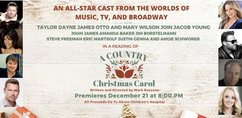 All-Star Cast from Broadway, Music and TV Assembles for A COUNTRY CHRISTMAS CAROL; Airs December 21
