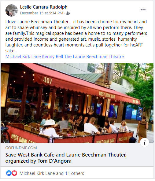 BWW Interview: Tom D'Angora of SAVE WEST BANK CAFE VIRTUAL TELETHON on Christmas Day