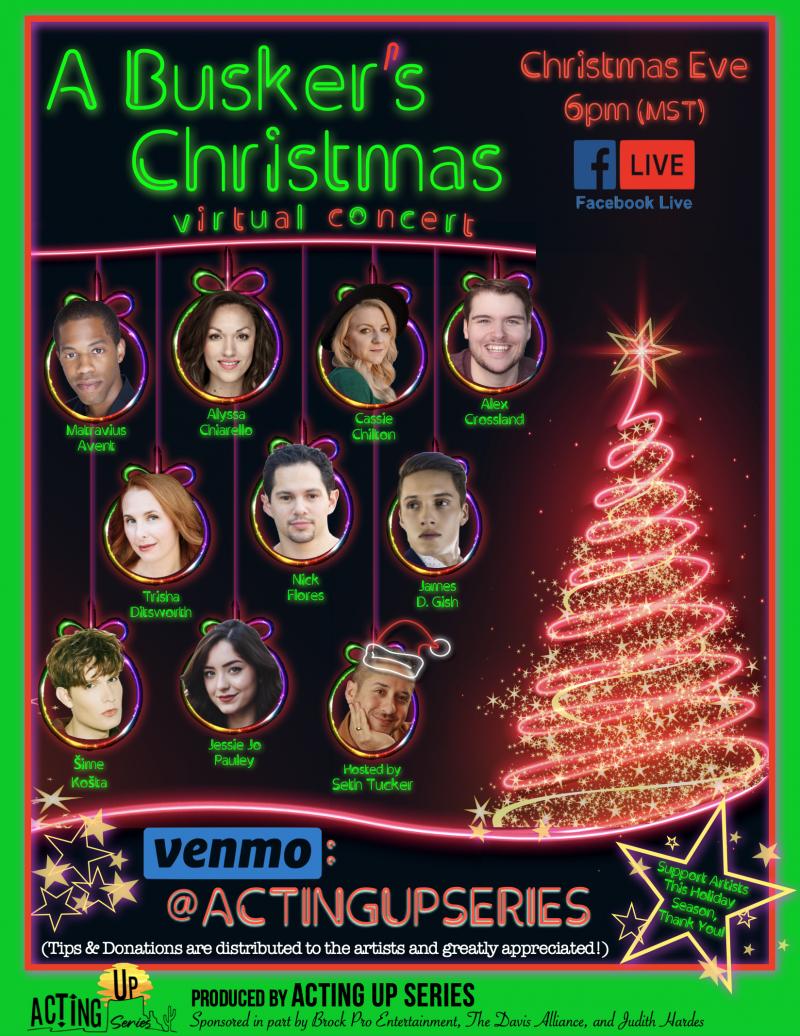 Local Theatre Stars Present A BUSKER'S CHRISTMAS: VIRTUAL CONCERT On Christmas Eve