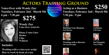 Actors Training Ground Announces Voice-Over And Acting As A Business Master Classes Photo