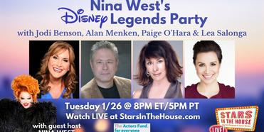 Alan Menken, Lea Salonga, Jodi Benson & Paige O'Hara to Join STARS IN THE HOUSE Episode Gu Photo