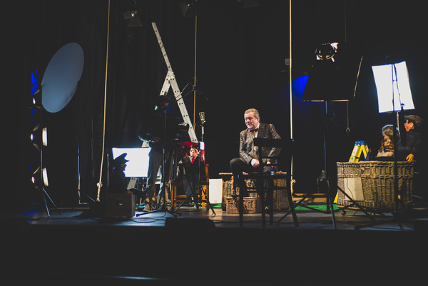 Photo Flash: See Jon Culshaw, Matthew Kelly, Jemma Redgrave and Adrian Scarborough Filming BARNES' PEOPLE