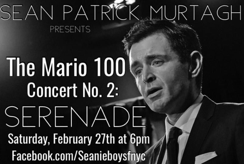 BWW Previews: Sean Patrick Murtagh THE MARIO 100! Concert No. 2 Set For February 27th