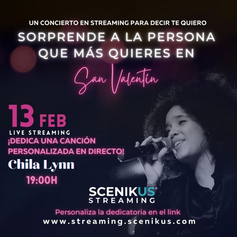 Chila Lynn presenta un concierto de San Valentín con canciones dedicadas