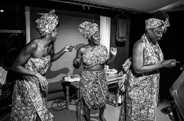 Danielle Kassarate as Doris, Landi Oshinowo as Jarene and Rosemary Annabella Nkrumah  Photo