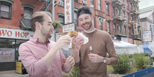 Mucha and Okey Have an Egg Roll (Mr. Goldstone) on SECOND ACT SNACKS Video