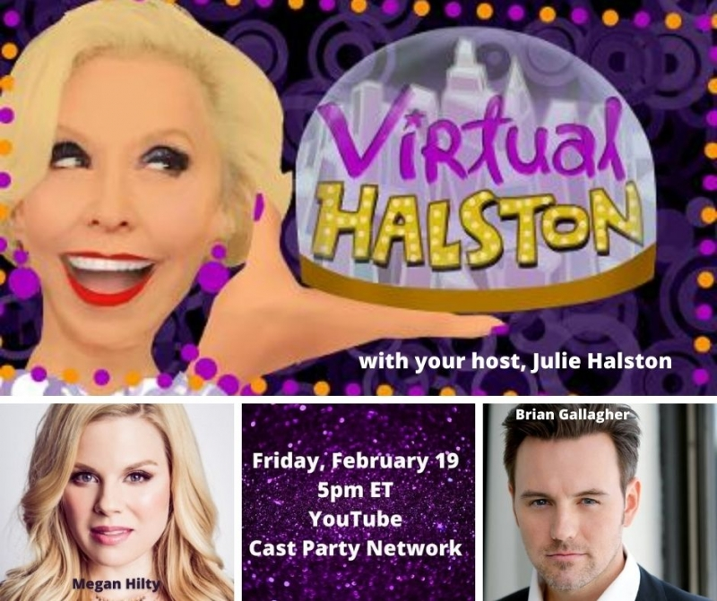 BWW Previews: OMG!  Megan Hilty and Brian Gallagher Visit VIRTUAL HALSTON On February 19th!