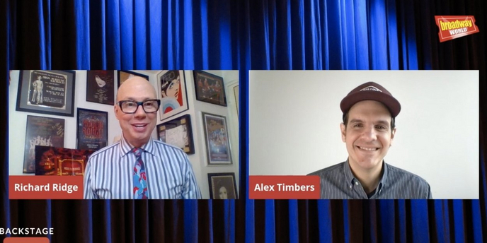 VIDEO: Alex Timbers Visits Backstage LIVE with Richard Ridge- Watch Now! Video