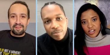 VIDEO: Lin-Manuel Miranda, Leslie Odom Jr. & Renée Elise Goldsberry Take Us 'Behind the Sc Photo