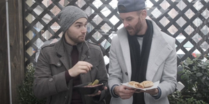 Mucha and Okey Eat Like Sharks and Jets on SECOND ACT SNACKS Video