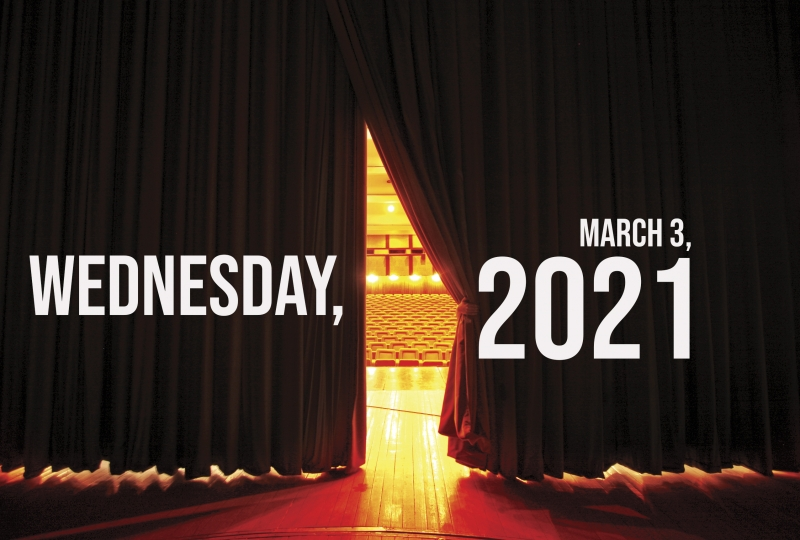 Virtual Theatre Today: Wednesday, March 3- with Patrick Cassidy,  Ian McKellen and More!