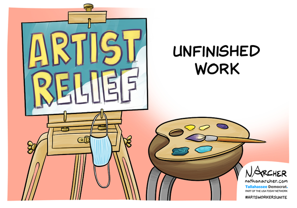 Check Out Political Cartoons From Be An #ArtsHero & Counterpoint's '100 Days of Art & Activism' Partnership