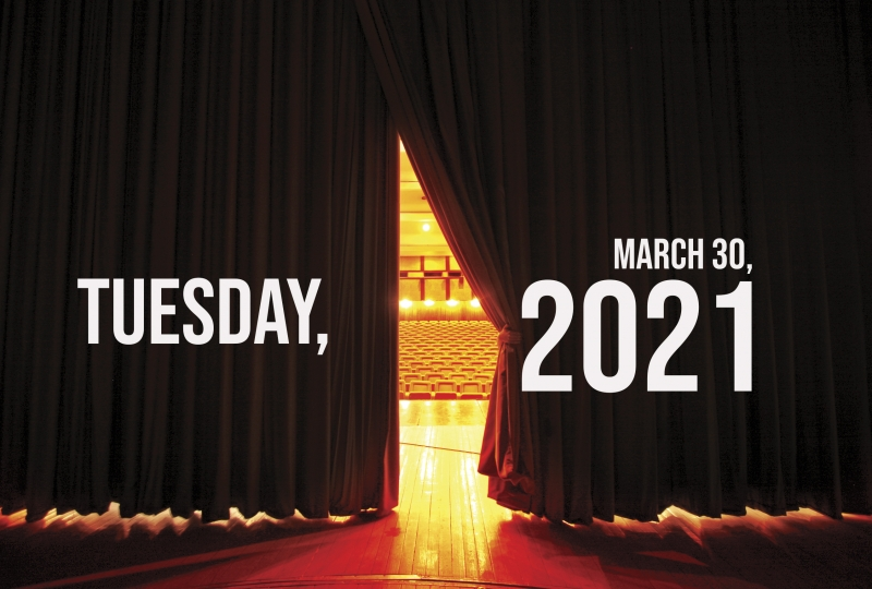 Virtual Theatre Today: Tuesday, March 30- with Broadway Backwards 2021 and More!