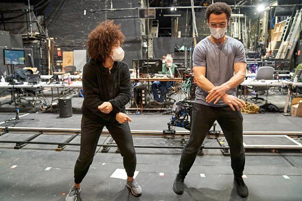 Aretha Ayeh and Jamael Westman  Photo