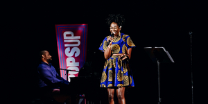 Amber Iman Performs at the Broadway Theatre For NY PopsUp Video