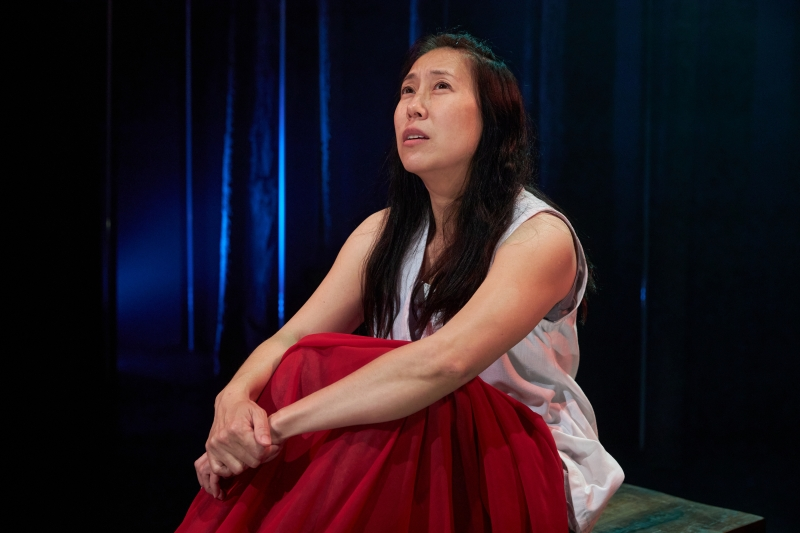Sue Jin Song in Constellation Theatre Company's production of Children of Medea. ​​​​​​​Photo credit: DJ Corey Photography