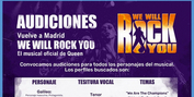 CASTING CALL: Audiciones para WE WILL ROCK YOU Photo
