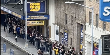 VIDEO: Fans Greet the Cast of COME FROM AWAY As They Arrive to Film the Show Photo