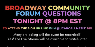 Student Blog: Broadway Community Forum Photo