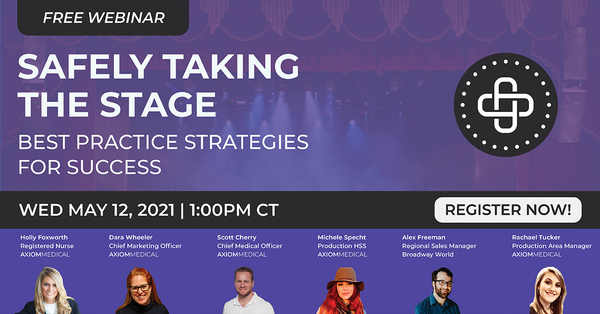 Safely Taking the Stage - 5 Topics We'll Cover at this Week's Webinar