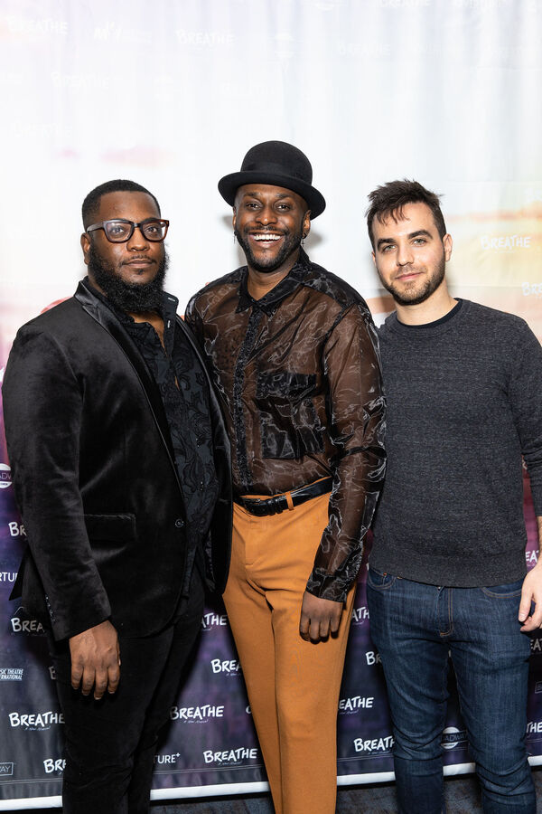 """""""Fatigue"""" director Zhailon Levingston and Composers Douglas Lyons and Ethan Pakchar  Photo"""