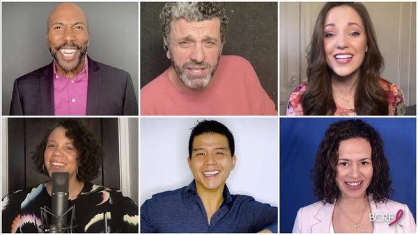 Eric Jordan Young, Bradley Dean, Laura Osnes, Shayna Steele, Telly Leung and Mandy Go Photo