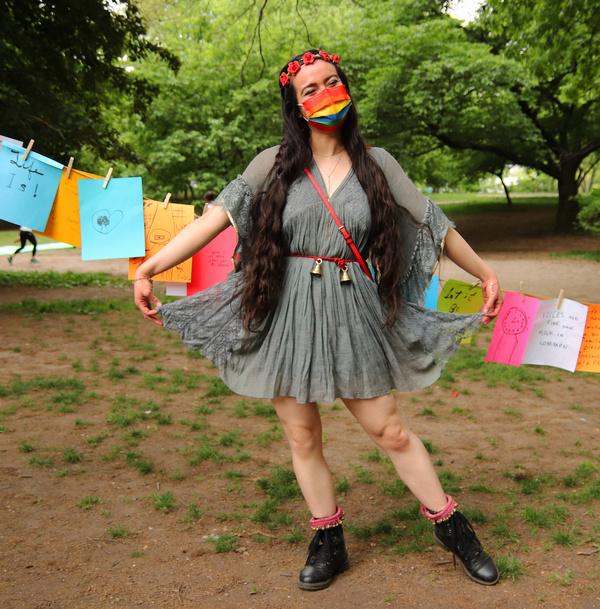Kristina Dizon, aka Val the fairy. Photo