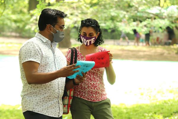 Devanand Janki and Playwright Nandita Shenoy. Photo