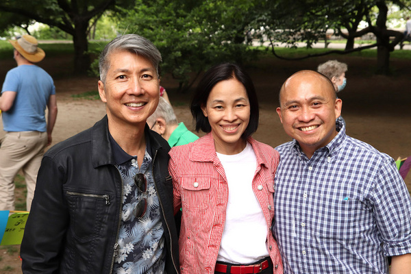 Jason Ma, Lia Chang and Paulo K. Tirol. Photo by Melissa Huber Photo