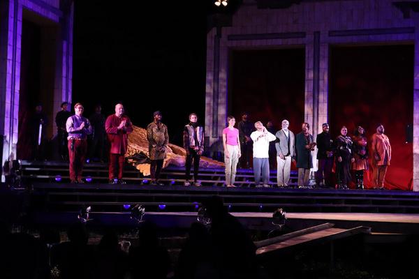 KING LEAR curtain call- MIchael Tran, Brian McKinley, Leland Fowler, Daniel Jose Moli Photo