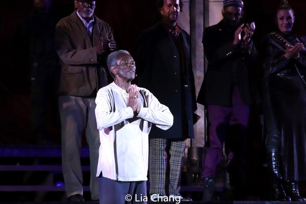 KING LEAR curtain call with Andre De Shields, J. Samuel Davis, Allen Gilmore, Jason J Photo